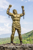 Statue of Prometheus with Broken Chain — Stock Photo