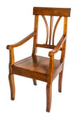Antique armchair made of cherry wood from the biedermeier time — Stock Photo