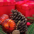 Christmas decoration with presents - Stock Photo