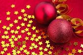 Decorazione di Natale con addobbi natalizi — Foto Stock