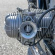 Close-up of a cylinder on a vintage motorcycle — Stock Photo