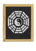 Bagua-Symbol auf einer Tafel — Stockfoto