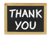 Thank You written on a blackboard — Stock Photo