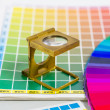Royalty-Free Stock Photo: Color guide and color fan with linen tester