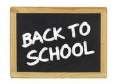 Back to school on a blackboard — Stock Photo