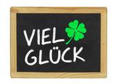 Viel Glück on a blackboard — Stock Photo