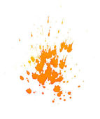 Orange ink splashes — Stock Photo