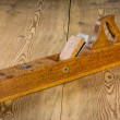 Stock Photo: Old jointer plane