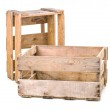 Vintage wooden wine crate — Stock Photo