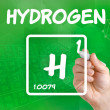 Symbol for chemical element hydrogen — Stock Photo #30591599