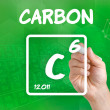 Symbol for the chemical element carbon — Stock Photo