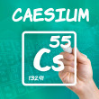 Symbol for the chemical element caesium — Stock Photo