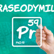 Symbol for the chemical element praseodymium — Stock Photo