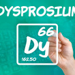 Stock Photo: Symbol for chemical element dysprosium