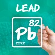 Symbol for the chemical element lead — Stock Photo