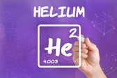 Symbol for the chemical element helium — Stock Photo