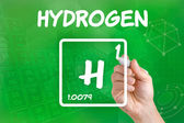 Symbol for the chemical element hydrogen — Stock Photo