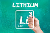 Symbol for the chemical element lithium — Stock Photo