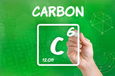 Symbole de l'élément chimique carbone — Photo