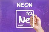 Símbolo para el neón del elemento químico — Foto de Stock
