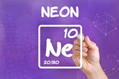 Symbol for the chemical element neon — Stock Photo