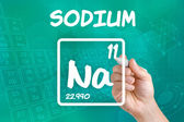 Symbol for the chemical element sodium — Stock Photo