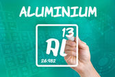 Symbol for the chemical element aluminium — Photo