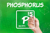 Symbol for the chemical element phosphorus — 图库照片