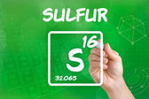 Symbol for the chemical element sulfur — Stock Photo
