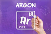 Symbol for the chemical element argon — Stock Photo