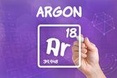 化学元素氩的符号 — 图库照片