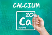 Symbol for the chemical element calcium — Stock Photo