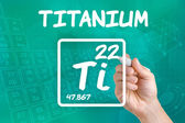 Symbol for the chemical element titanium — Stok fotoğraf