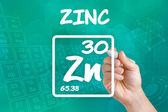 Symbol for the chemical element zinc — Stock Photo