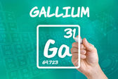 Symbol for the chemical element gallium — Stok fotoğraf