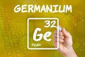 Símbolo para el germanio elemento químico — Foto de Stock