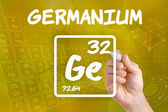 Symbol for the chemical element germanium — Stok fotoğraf