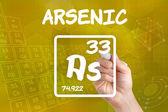 Símbolo para el arsénico elemento químico — Foto de Stock
