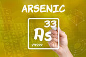 Symbol for the chemical element arsenic — 图库照片