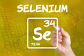 Symbol for the chemical element selenium — Stock Photo