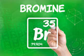 Symbol for the chemical element bromine — Stok fotoğraf
