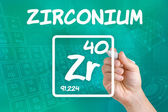 Symbol for the chemical element zirconium — Stok fotoğraf