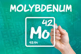 Symbol for the chemical element molybdenum — 图库照片