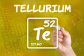 Symbol for the chemical element tellurium — Stok fotoğraf
