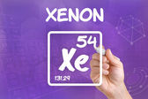 Symbol for the chemical element xenon — Stock fotografie