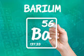 Symbol for the chemical element barium — Stok fotoğraf