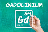 Symbol for the chemical element gadolinium — Stock Photo