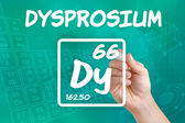 Symbol for the chemical element dysprosium — Stock Photo