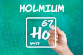 Symbol for the chemical element holmium — Stock Photo