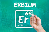 Symbol for the chemical element erbium — Stock fotografie